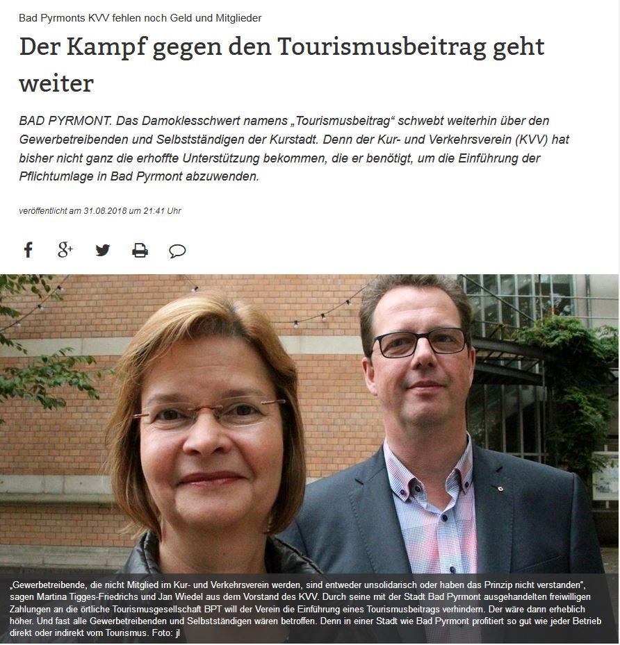 Der Kampf gegen die Tourismusabgabe
